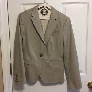 Beige suit jacket from banana republic